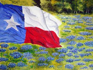 Texas Blue Bonnets - Wheeler Art Works