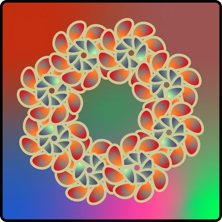 Flower Wreath Colormania - Stefan Vennberg