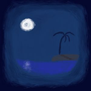 Moonlight from the cave