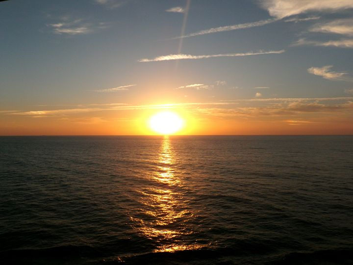 Sunset At Sea - Photos