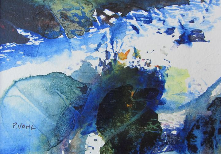 Sea side  acrylic  5x7 - Pauline Vohl
