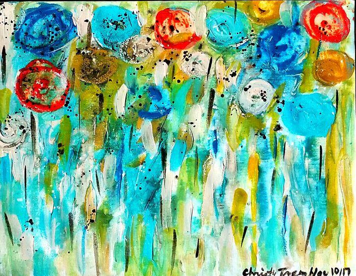 Blooming Blooms Aqua Bella - Christy Tremblay