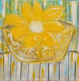 Original Flower Painting on Canvas