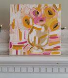 Original Pink Flower Painting