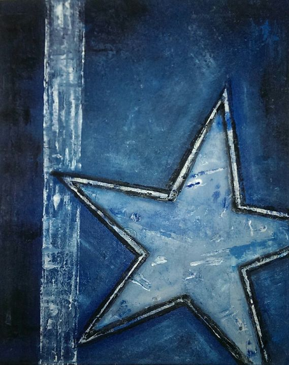 DALLAS COWBOYS POPEKU - oil paintings by SHANNON SCOTT