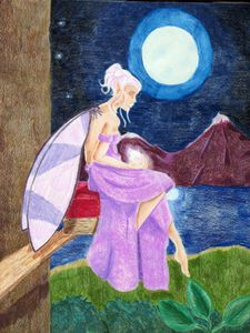 Fairy in the Pale Moon Light
