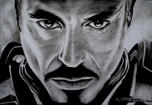 Robert downy Jr pencil sketch