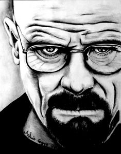 pencil sketch Walter White