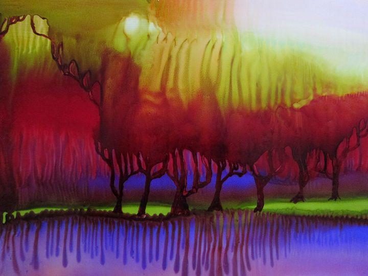 Night Fall - Susan Riha Parsley Gallery Art Ink It!
