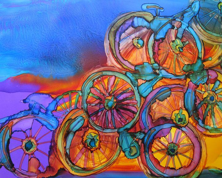 Bike Sculpture - Susan Riha Parsley Gallery Art Ink It!