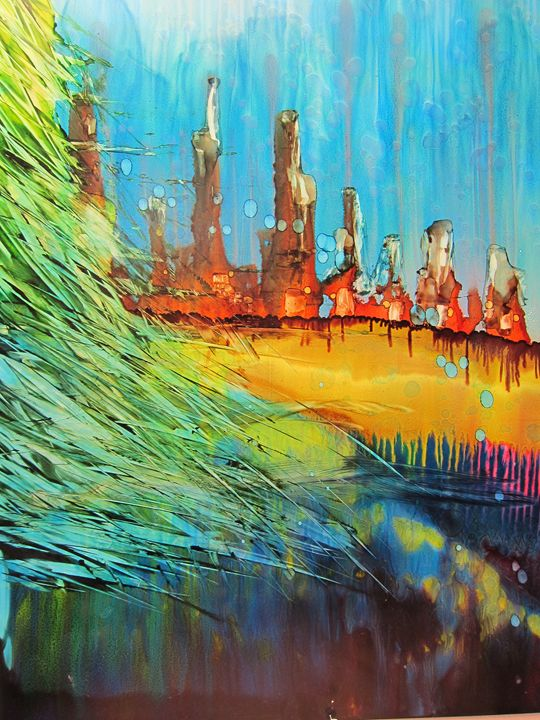 City Scape - Susan Riha Parsley Gallery Art Ink It!