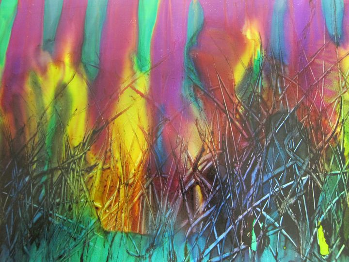 Colored Grass - Susan Riha Parsley Gallery Art Ink It!