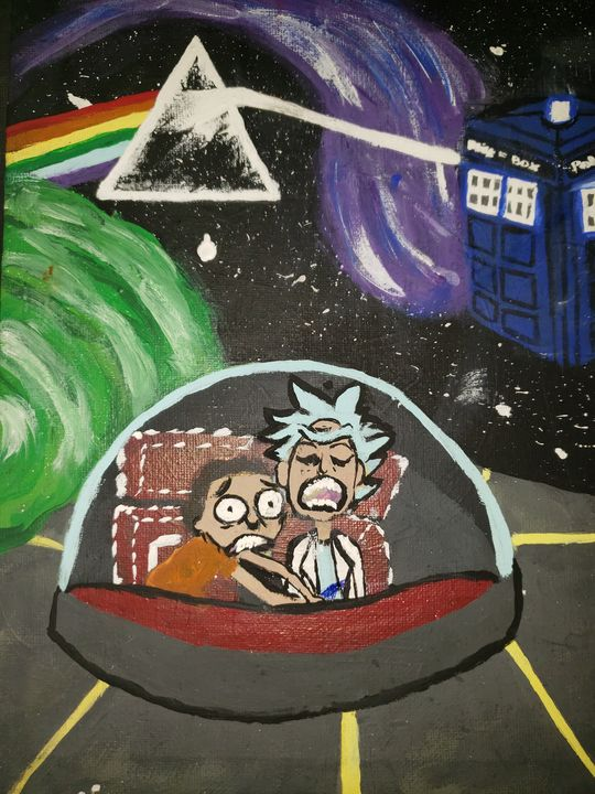Rick and Morty floating in time - Jgomez