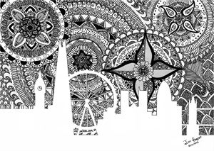 Zentangle Art London | B&W