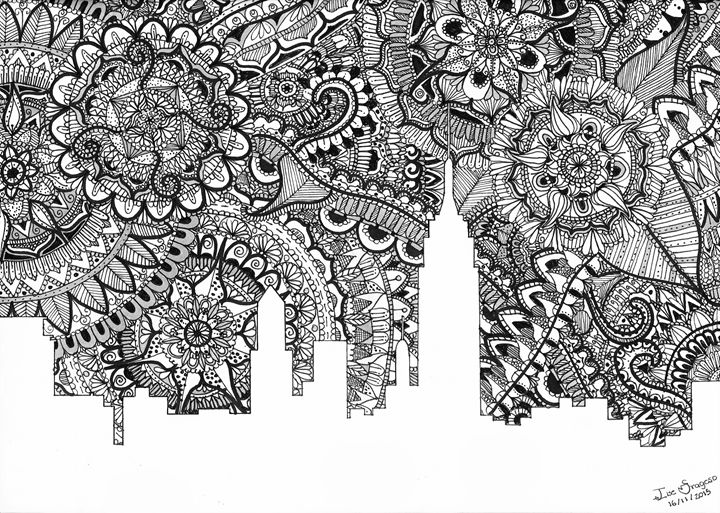 Zentangle Art New York | B&W - Ilse Fragoso