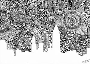 Zentangle Art New York | B&W