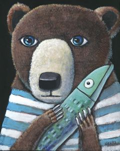 Bear & Fish Blue