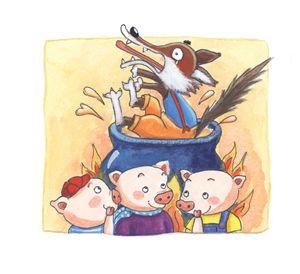 Three little pigs scene 14
