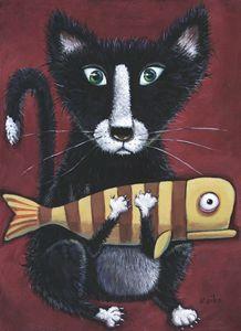 Cat & Fish One