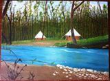 Camping at the river side