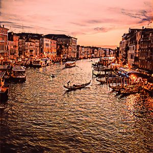 Sunset From Venice