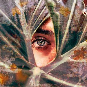 Beautiful eyes behind
