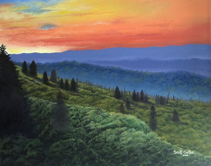 The Great Smokie Mountains - Scott's Art Gallery