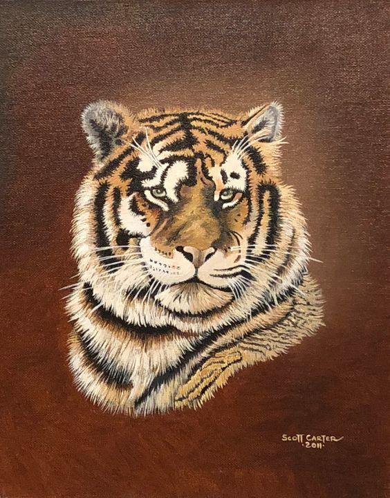 Tiger Portrait - Scott's Art Gallery