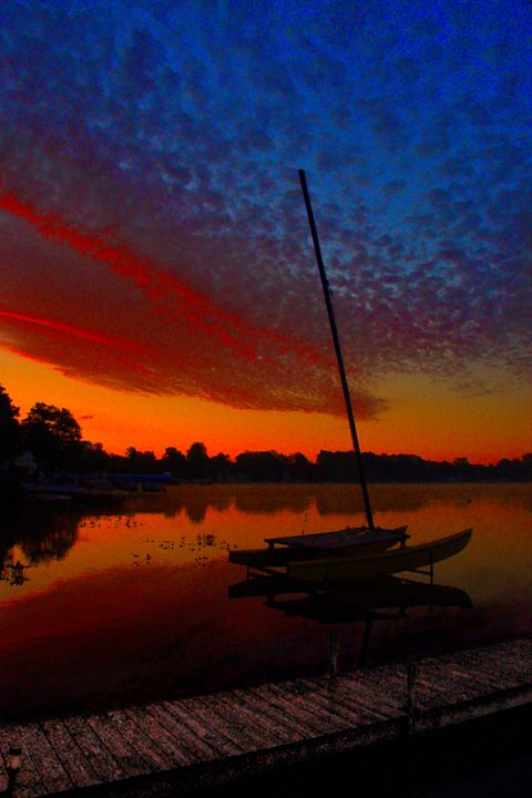 Sailboat Silhouette - Mark Goodhew Photography
