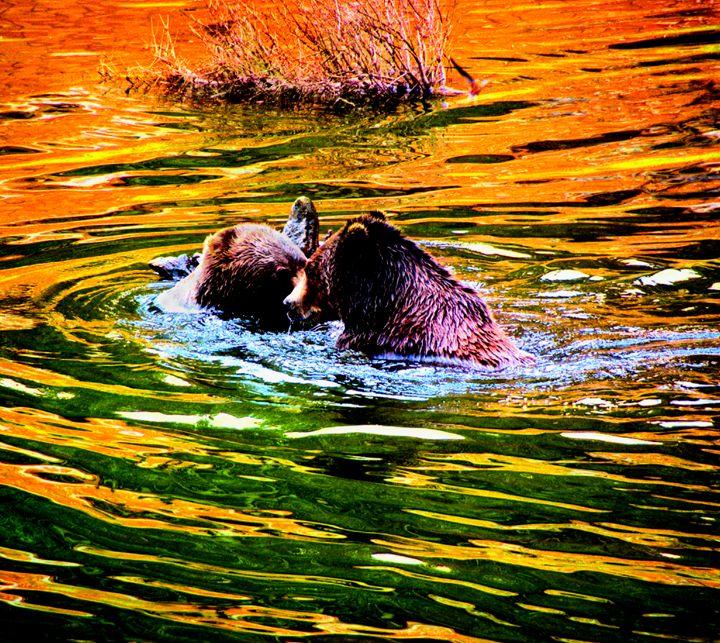 Bear Play Alaska 2 - Mark Goodhew Photography