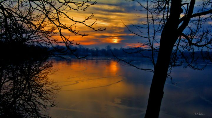 Frozen Lake Sunrise - Mark Goodhew Photography