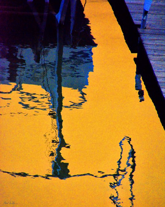 Boat Lift Reflections Abstract - Mark Goodhew Photography