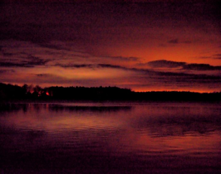 Night Time Cloud Reflections2 - Mark Goodhew Photography