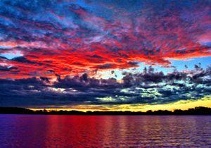 Yellow Stripe Sunset