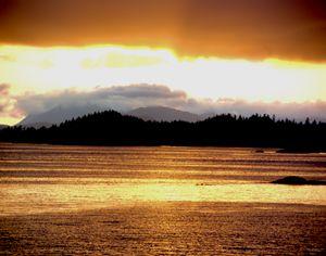Golden Alaskan Sunset