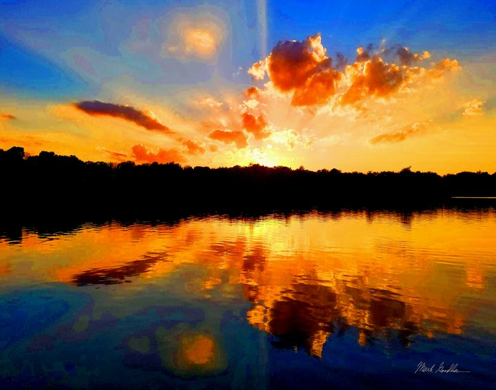 Painted Sunset2 - Mark Goodhew Photography