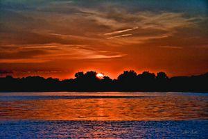 captured sunset