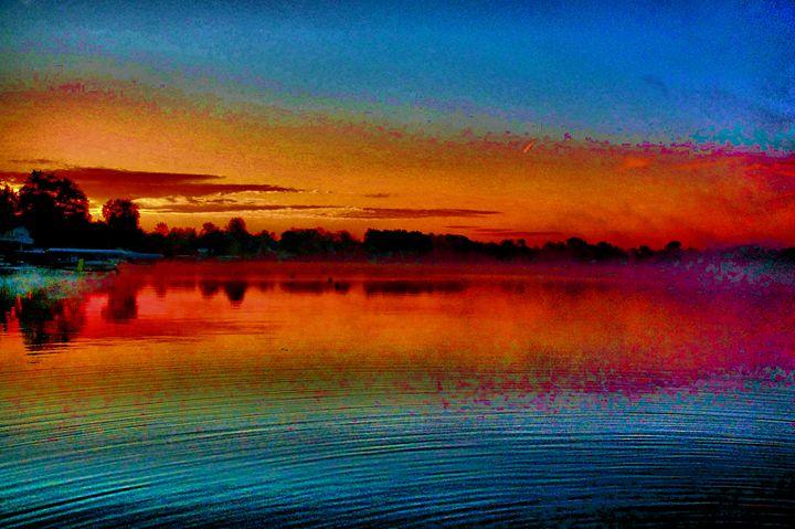 Water Ripple Sunrise - Mark Goodhew Photography