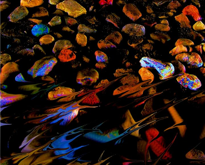 River Rock abstract - Mark Goodhew Photography