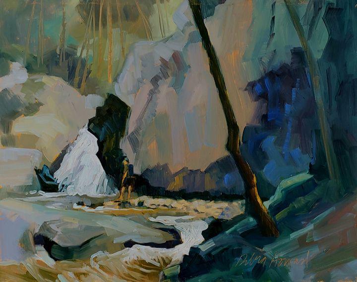 Hiker at Kilgore Falls - Debra Howard