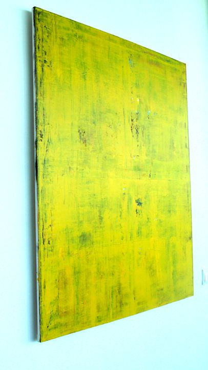 Original Abstract Painting, Yellow - Abstract painting
