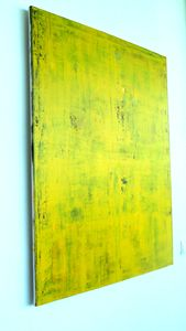 Original Abstract Painting, Yellow
