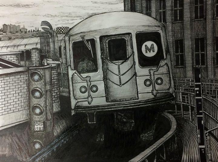 NYC M Train - Michael Kelsch