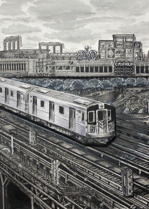 Citifield 7 Train - Michael Kelsch