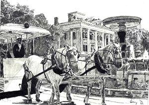 Bellamy House & Kenan Fountain - drawings by GaryD