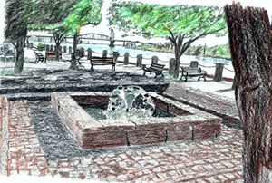 Downtown Wilmington NC - drawings by GaryD