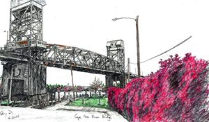 Cape Fear Memorial Bridge - drawings by GaryD