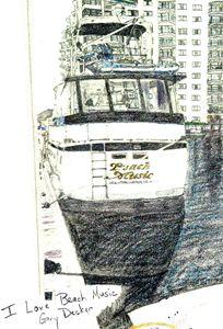 I Love Beach Music - drawings by GaryD