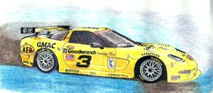Earnhardt Daytona 24 Hours Car - drawings by GaryD