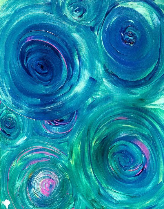 Blue Green Trance - Ethereal Art by Jen